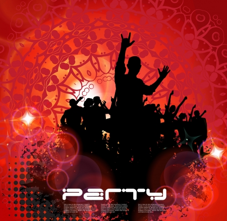 pool party: Music Party Background  Vector