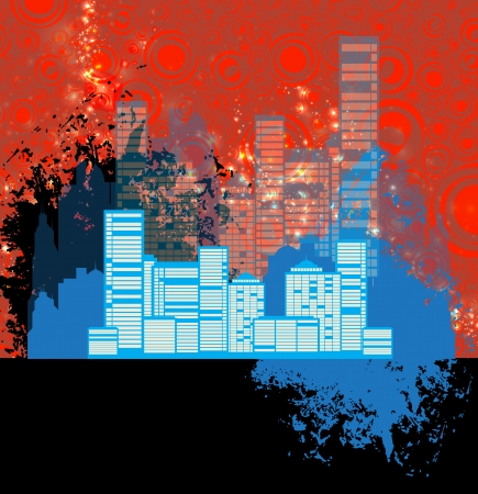 City illustration Stock Illustration - 23449074