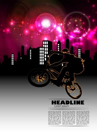 BMX biker  Vector Vector