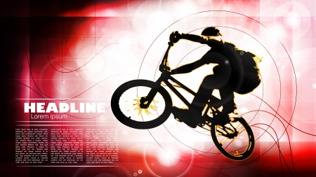 extremal: Cycling  Vector illustration