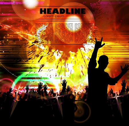 dancing disco: Concert poster  Vector illustration