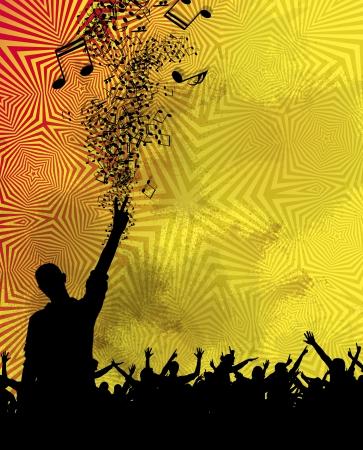 Musique parti des gens qui dansent Banque d'images - 23813170