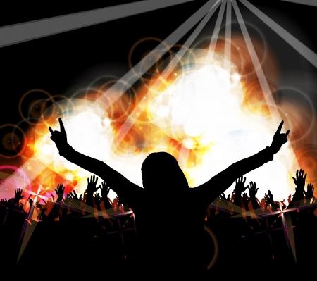 Musique parti des gens qui dansent Banque d'images - 23789518