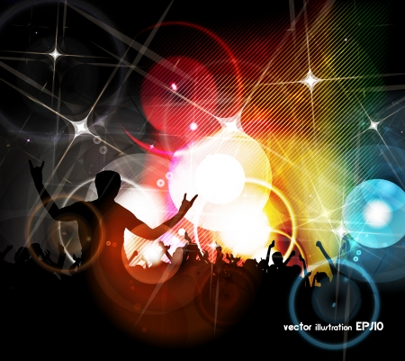 EPS10 party people vector background  Illustration