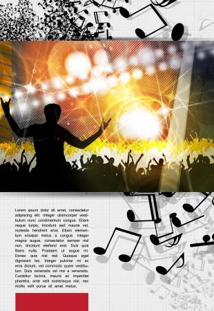 applauding: Music event poster  Vector
