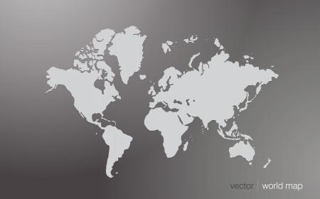 Vector world map illustration  Vettoriali