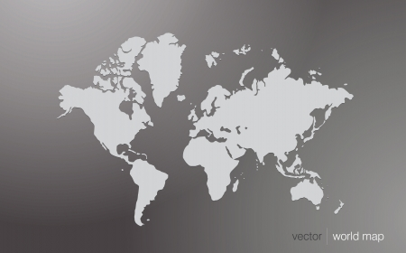 Vector world map illustration  Illustration