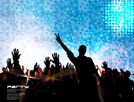 disco party: Music event background  Vector eps10 illustration