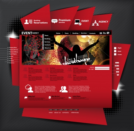 web portal: Website layout with music subject