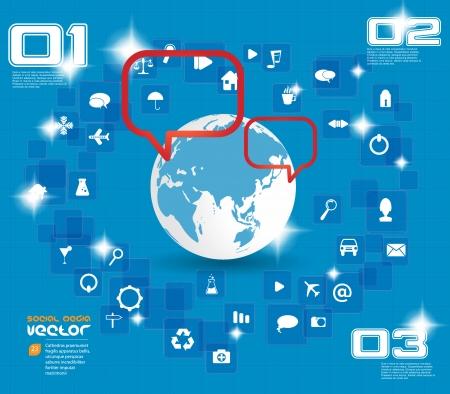 social media concept: Social media concept  Vector