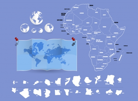 Map of Africa  Vector Vector