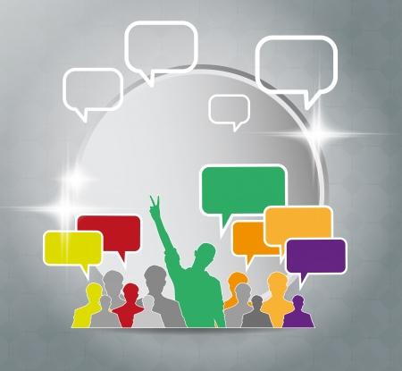 compatibility: Social media concept  Vector
