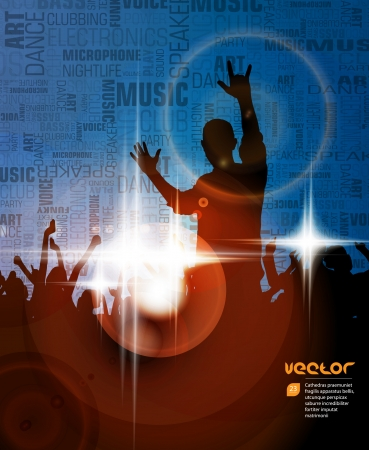 dubstep: Party poster background  Vector  Illustration