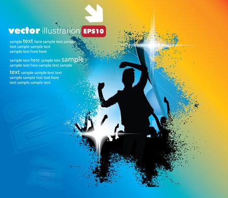 nightclub flyer: Disco party  Vector