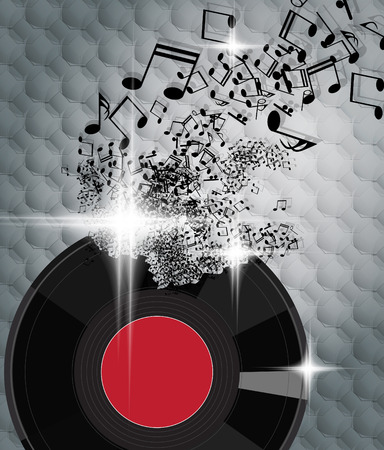 Abstract musical background  photo