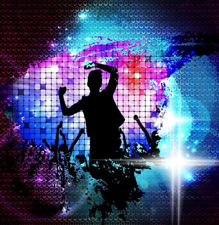 Disco party illustration illustration