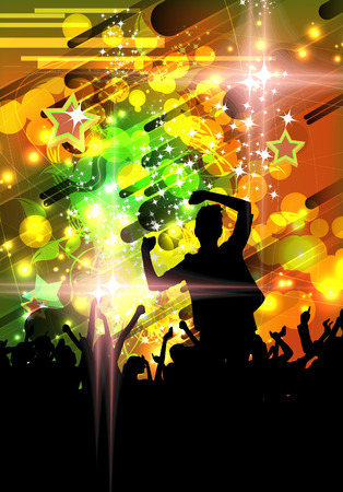 Disco party illustration illustration