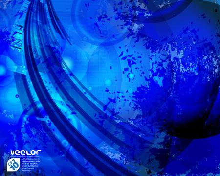 fondo vintage azul: Fondo azul abstracto de la vendimia para el dise�o