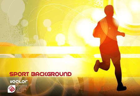 marathon: Marathon illustration  Vector