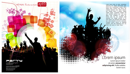 event party: Music event party Illustration