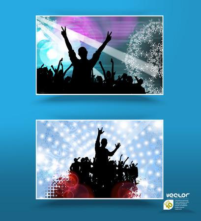 Music banners set  Illustration