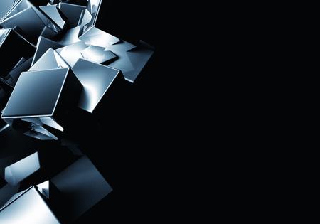 3D cube abstraction Archivio Fotografico