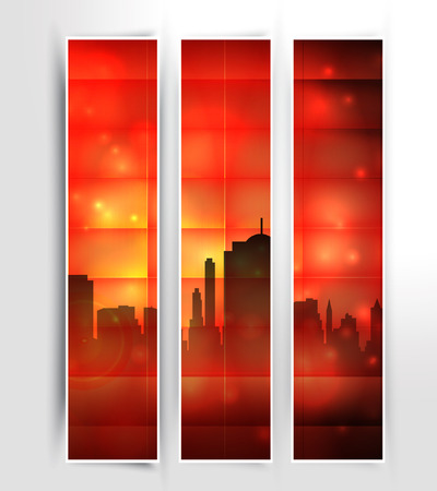 Three city banners