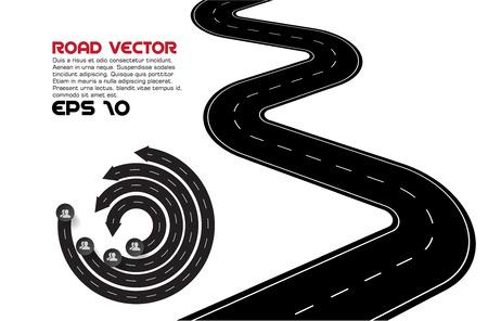 曲がりくねった道のベクトル イラスト