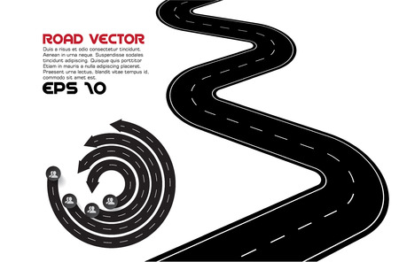 winding road: Vector Illustration of winding road