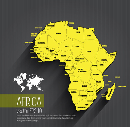 mapa de africa: Mapa de África, vector