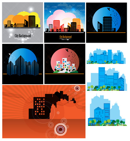 Vector city silhouette  Vector