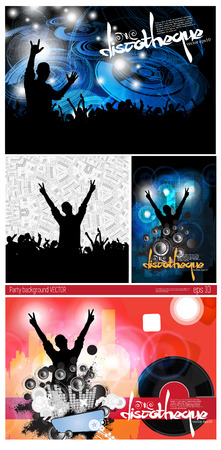 Big set of concert poster Vector