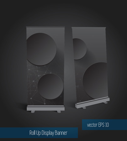 kakemono: Abstract roll up banner display template for designers, vector eps 10  Illustration