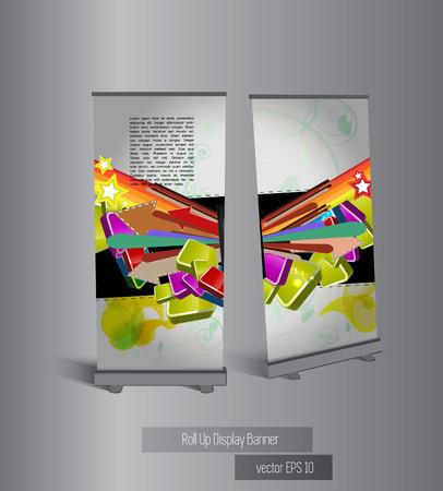 kakemono: Banner stand display, vector