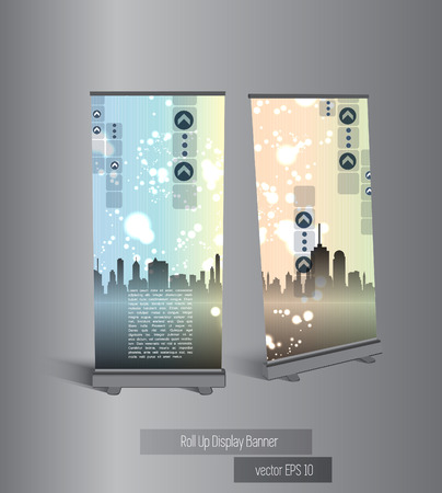 Banner stand display, vector