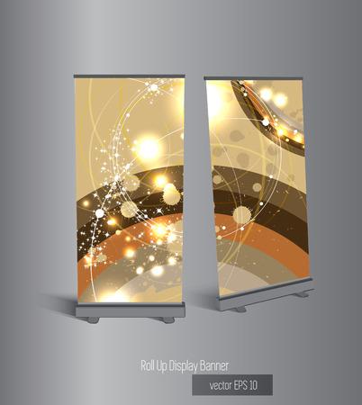 advert: Vector advert stand  Illustration