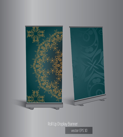 rolup: Vector advert stand  Illustration