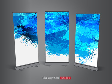 Roll up display banner Vector