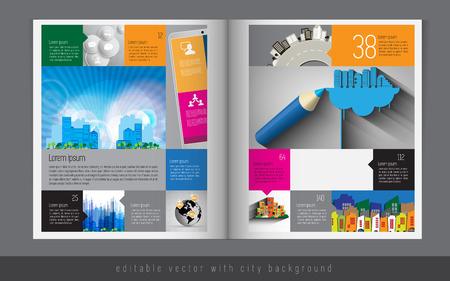 magazine: Magazine layout  Vector
