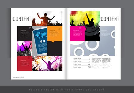 clubing: Magazine layout  Vector