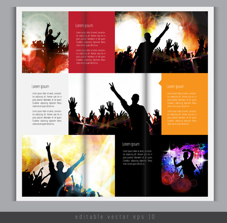 clubing: Magazine layout  Vector
