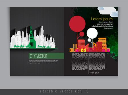 evening newspaper: Magazine layout  Vector