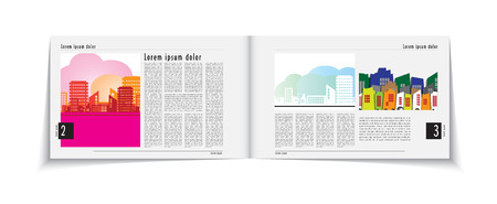 Page layout design  Editable vector  Vector