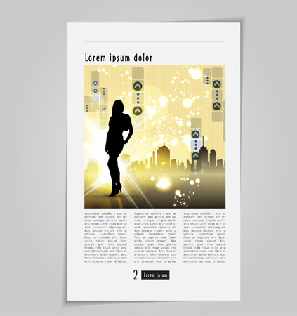 page layout: Page layout design  Editable vector