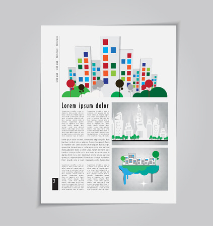 evening newspaper: Vector architecture brochure template, eps10