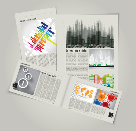 Modern Brochure Template Vector  Stock Vector - 29315264