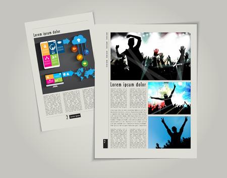 Modern Brochure Template Vector Stock Vector - 29315265