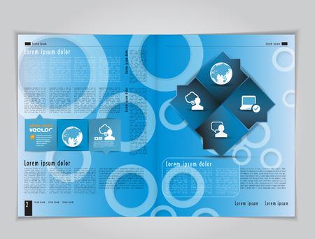 mag: Conception maquette pour le magazine ou une brochure Illustration