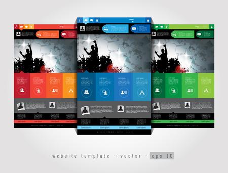web site design template: Elegant web site design template