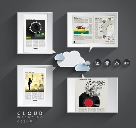 Cloud magazine  Editable vector  Vector